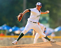 2 July 2011: Vermont Lake Monsters pitcher Brent Powers on the mound against the Tri-City ValleyCats at Centennial Field in Burlington, Vermont. The Lake Monsters rallied from a 4-2 deficit to defeat the ValletCats 7-4 in NY Penn League action. Mandatory Credit: Ed Wolfstein Photo