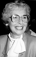 """Montreal (QC) Canada- -July 31 1984  File Photo - <br /> Sheila Finestone (R) choosen as liberal candiate for the  riding of Mount Royal over William Dery... In 1984 she was elected as a Liberal Member of Parliament for the Montreal riding of Mount Royal. She was re-elected in the 1988, 1993 and 1997 elections.<br /> <br /> Finestone was sworn to the Privy Council in November 1993 as Secretary of State (Multiculturalism and Status of Women). Finestone was appointed to the Senate of Canada in August 1999. She completed her term in the Senate in 2002 when she reached the mandatory retirement age of 75.<br /> <br /> She was a member of the board of the Canadian Landmine Foundation.<br /> <br /> In 2008, Finestone was the recipient of the Distinguished Service Award of the Canadian Association of Former Parliamentarians,[2] """"presented annually to a former parliamentarian who has made an outstanding contribution to the country and its democratic institutions.""""[3] The award was accepted on her behalf by her son Peter, due to Finestone's inability to attend, following health challenges.[4]"""
