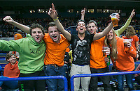 02-02-14,Czech Republic, Ostrava, Cez Arena, Davis Cup Czech Republic vs Netherlands, Dutch Fans<br /> Photo: Henk Koster