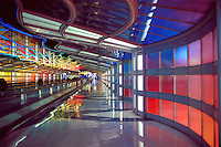 The United Airlines Terminal at Chicago O'Hare Airport, Airport, transportation, airlines, travel, architecture, 04-1070. Chicago Illinois USA Chicago O'Hare Airport.