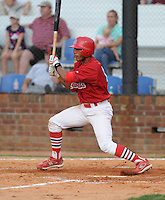 August 1, 2009: Infielder Ted Obrigon (15) of the Johnson City Cardinals, rookie Appalachian League affiliate of the St. Louis Cardinals, in a game at Howard Johnson Field in Johnson City, Tenn. Photo by: Tom Priddy/Four Seam
