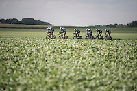 Team SKY in action<br /> <br /> 12th Eneco Tour 2016 (UCI World Tour)<br /> stage 5 (TTT) Sittard-Sittard (20.9km) / The Netherlands