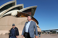 SYDNEY, AUSTRALIA - August 23, 2016:  Cal Bears Football team Australia trip. Sonny Dykes walking to press conference at the Sydney Opera House.