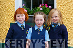 Maria Sheahan,  Sive Kenny, Molly Moriarty who started in  junior infants in Loughquittane NS Killarney on Tuesday