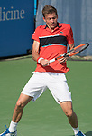 August 2,2017:   Nicolas Mahut (FRA) loses to Milos Raonic (CAN) 7-6, 7-6, at the Citi Open being played at Rock Creek Park Tennis Center in Washington, DC, .  ©Leslie Billman/Tennisclix/CSM