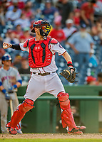 30 April 2017: Washington Nationals catcher Matt Wieters in action against the New York Mets at Nationals Park in Washington, DC. The Nationals defeated the Mets 23-5, with the Nationals setting several individual and team records, in the third game of their weekend series. Mandatory Credit: Ed Wolfstein Photo *** RAW (NEF) Image File Available ***