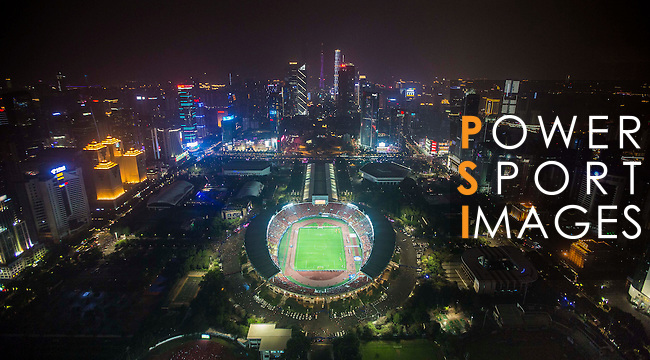 Aerial view of the Tianhe Sport Center during the Guangzhou Evergrande vs Al Ahli AFC Champions League Final Match 2nd Leg on 21 November 2015 in Guangzhou, China. Photo by Baiyu Zhu / Power Sport Images
