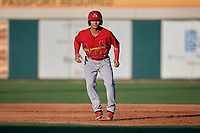 Palm Beach Cardinals Scott Hurst (8) leads off first base during a Florida State League game against the Lakeland Flying Tigers on May 22, 2019 at Publix Field at Joker Marchant Stadium in Lakeland, Florida.  Palm Beach defeated Lakeland 8-1.  (Mike Janes/Four Seam Images)