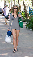 MIAMI BEACH, FL - JANUARY 03: Actress AnnaLynne McCord spends so time on the beach and in the water with new boyfriend Twilight's Kellan Lutz while on holiday in South Beach on January 3, 2009 in Miami Beach, Florida. <br /> <br /> People:   AnnaLynne McCord