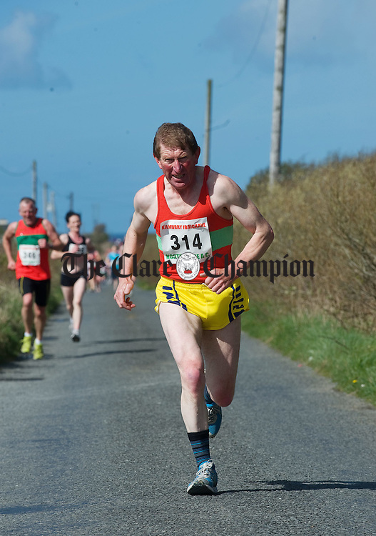 Veteran Tom Mackey in action at the Michael Egan Memorial roadrace in Quilty. Photograph by John Kelly.