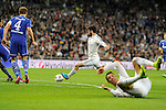 Real Madrid´s Isco and FC Shalke 04´s Benedikt Howedes during 2014-15 Champions League match between Real Madrid and FC Shalke 04 at Santiago Bernabeu stadium in Madrid, Spain. March 10, 2015. (ALTERPHOTOS/Luis Fernandez)