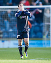DAMIAN CASALINUOVO CELEBRATES AFTER HE SCORES RAITH'S LAST MINUTE EQUALISER