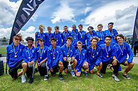 Auckland under-15 boys tournament champions. 2019 National Age Group Tournament football awards ceremony at Memorial Park in Petone, Wellington, New Zealand on Sunday, 15 December 2019. Photo: Dave Lintott / lintottphoto.co.nz