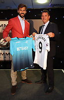 Pictured L-R: Fernando Llorente with his sponsor  Wednesday 18 May 2017<br /> Re: Swansea City FC, Player of the Year Awards at the Liberty Stadium, Wales, UK.