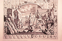 William Hogarth:  Analysis of Beauty--Plate 1. 1753.  Reference only.