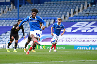 Ellis Harrison of Portsmouth scores from the spot to make the score 2-1 during Portsmouth vs MK Dons, Sky Bet EFL League 1 Football at Fratton Park on 10th October 2020