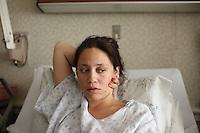 Patient in hospital in Charlottesville, VA. Photo/Andrew Shurtleff
