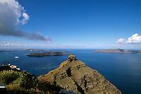 Skaros-Felsen bei Imerovigli, Insel Santorin (Santorini), Griechenland, Europa
