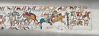 Bayeux Tapestry scene 58 :  Duke William wins the Battle of Hastings and is proclaimed King of England.