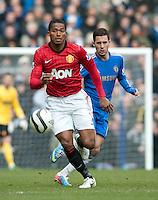 Antonio Valencia of Manchester United and Eden Hazard of Chelsea