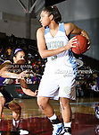 Southern University Jaguars forward Jamie Floyd (5) in action during the SWAC Tournament Championship game between the Prairie View A&M Lady Panthers and the Southern University Jaguars at the Special Events Center in Garland, Texas. Prairie View defeats  Southern 48 to 44