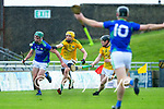 Eric Leen, Kerry, in action against Éamon Ó Donnchadha, Meath during the Round 1 meeting of Kerry and Meath in the Joe McDonagh Cup at Austin Stack Park in Tralee on Sunday.