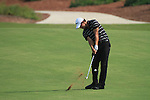 Dubai World Championship Golf. Earth Course,.Jumeirah Golf Estate, Dubai, U.A.E...Adam Scott playing his second shot from the fairway on the 1st during the second round of the Dubai World Golf championship..Photo: Fran Caffrey/www.golffile.ie...