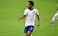 ORLANDO CITY, FL - JANUARY 31: Jesus Ferreira #9 of the United States during a game between Trinidad and Tobago and USMNT at Exploria stadium on January 31, 2021 in Orlando City, Florida.