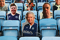 Seats occupied by fans pictures including he Queen during Millwall vs Blackburn Rovers, Sky Bet EFL Championship Football at The Den on 14th July 2020