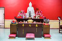Wul Ngon Tin Chinese Buddhist Temple Altar, Kuala Lumpur, Malaysia.