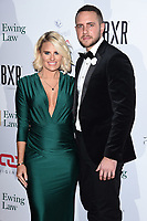 Danielle Armstrong and Tom Labey<br /> arriving for the Float Like a Butterfly Ball 2019 at the Grosvenor House Hotel, London.<br /> <br /> ©Ash Knotek  D3536 17/11/2019