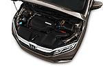Car Stock 2019 Honda Odyssey EX-L 5 Door Minivan Engine  high angle detail view