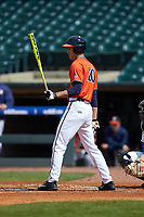 Cameron Simmons (20) of the Virginia Cavaliers at bat against the Duke Blue Devils in Game Seven of the 2017 ACC Baseball Championship at Louisville Slugger Field on May 25, 2017 in Louisville, Kentucky. The Blue Devils defeated the Cavaliers 4-3. (Brian Westerholt/Four Seam Images)