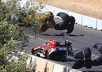 Jul 29, 2017; Sonoma, CA, USA; NHRA funny car driver Jonnie Lindberg during qualifying for the Sonoma Nationals at Sonoma Raceway. Mandatory Credit: Mark J. Rebilas-USA TODAY Sports