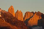 Peaks, Torres del Paine, Torres del Paine National Park, Patagonia, Chile