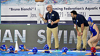 Dimitris Mavrotas Israel Team Head coach during a time out <br /> Italy ITA - Israel ISR <br /> Trieste (Italy) 22/01/2021 Bruno Bianchi Aquatic Center <br /> Fina Women's Water Polo Olympic Games Qualification Tournament 2021 <br /> Photo Andrea Staccioli / Deepbluemedia / Insidefoto