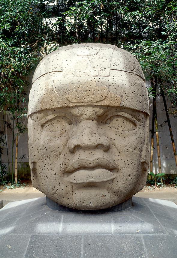 Sculpted pre-Mayan civilization era clay figure represents Xipe-Totec, God of Spring. Museo de Antropolgia (Museum of Anthropology)Veracruz,Xalapa,(Jalapa)Mexico.