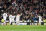 Real Madrid's players celebrating a goal during La Liga match. March 20,2016. (ALTERPHOTOS/Borja B.Hojas)