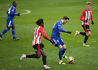 James Maddison of Leicester City in action during Brentford vs Leicester City, Emirates FA Cup Football at the Brentford Community Stadium on 24th January 2021