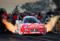 Jul, 8, 2011; Joliet, IL, USA: NHRA funny car driver Johnny Gray during qualifying for the Route 66 Nationals at Route 66 Raceway. Mandatory Credit: Mark J. Rebilas-