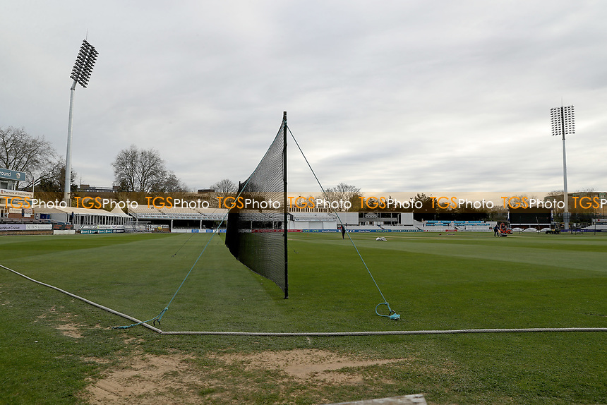 General view of the ground prior to Essex CCC vs Worcestershire CCC, LV Insurance County Championship Group 1 Cricket at The Cloudfm County Ground on 8th April 2021