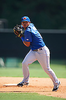 Toronto Blue Jays Deiferson Barreto (6) during practice before an instructional league game against the Atlanta Braves on September 30, 2015 at the ESPN Wide World of Sports Complex in Orlando, Florida.  (Mike Janes/Four Seam Images)