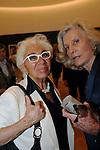 MARINA CICOGNA CON LINA WERTMULLER<br /> VERNISSAGE MOSTRA FOTOGRAFICA DI MARINA CICOGNA- ACCADEMIA DI FRANCIA ROMA 2009