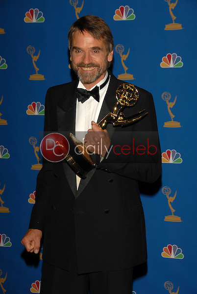 Jeremy Irons<br />in the Press Room at the 58th Annual Primetime Emmy Awards. The Shrine Auditorium, Los Angeles, CA. 08-27-06<br />Scott Kirkland/DailyCeleb.com 818-249-4998