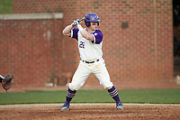 Daniel Millwee (22) of the High Point Panthers at bat against the Campbell Camels at Williard Stadium on March 16, 2019 in  Winston-Salem, North Carolina. The Camels defeated the Panthers 13-8. (Brian Westerholt/Four Seam Images)