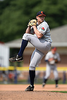 Connecticut Tigers starting pitcher Spencer Turnbull (43) delivers a pitch during the second game of a doubleheader against the Batavia Muckdogs on July 20, 2014 at Dwyer Stadium in Batavia, New York.  Connecticut defeated Batavia 2-0.  (Mike Janes/Four Seam Images)