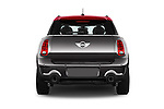 Straight rear view of a 2015 MINI Countryman John Cooper Works 5 Door Hatchback Rear View  stock images