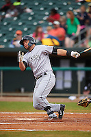 Jackson Generals first baseman D.J. Peterson (33) at bat during a game against the Montgomery Biscuits on April 29, 2015 at Riverwalk Stadium in Montgomery, Alabama.  Jackson defeated Montgomery 4-3.  (Mike Janes/Four Seam Images)