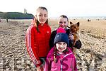 Caoimhe, Caoilinn and Aoibhinn Harte from Duagh at the Con Hartnett Memorial swim in Ballybunion on New Years Day.