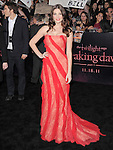 Ashley Greene  attends The Los Angeles premiere of Summit Entertainment's THE TWILIGHT SAGA: BREAKING DAWN PART 1 HELD AT Nokia Theatre at L.A. Live in Los Angeles, California on November 14,2011                                                                               © 2010 DVS / Hollywood Press Agency